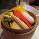 杏厨 - 彩り野菜の小籠蒸し