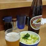 40485145 - 瓶ビール+キャベツ