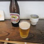 手打ち蕎麦 成冨 - 瓶ビール(2015/8)