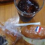 渡邊ベーカリー - ご利益ご長寿あんぱん、アイスコーヒー、コロッケパン