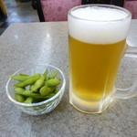 ヴァンヴェール - 生ビールと枝豆