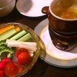 nangokubaruhaisai - 季節野菜のスティックバーニャカウダ850円