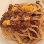 デリツィオーゾ フィレンツェ - 国産和牛とトスカーナ風ラグーとトウモロコシのソース スパゲッティ