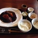 40498833 - 黒酢酢豚の定食