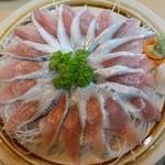 ろばた焼岩手川 - 料理写真:いわし刺2本850円