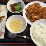 中華料理 唐韻 - お勧め中華セット四川麻婆豆腐、1280円です。