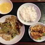 中華料理 唐韻 - 中華セットの回鍋肉、980円です。