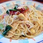 カプリチョーザ - グリルした春野菜としらすのスパゲティ