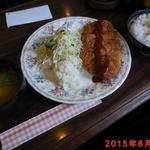カフェドフルカワ - 料理写真:豚かつ定食 \650(税込)
