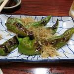 炭火焼鳥 くろちゃん - ししとう焼き(万願寺)350円