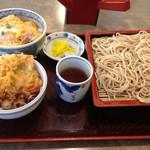 麺房 八角 - 料理写真:ざるそばとミニカツ丼セット