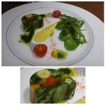 ジャルダンマルス - 前菜・・お野菜のテリーヌ。見た目がキレイですね。