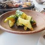 ラハイナ - 夕食 キュウリの自家製ぱりぱり