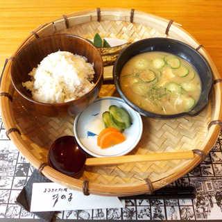 ふるさと料理 杉の子 - 冷や汁定食(¥1080)。初めて本場でいただく、宮崎の郷土料理(^-^)