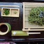 豆本舗 藤乃家 - 茶そば