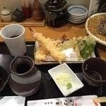 日本橋 からり  - 大海老天ぷらランチ 天ざるセット