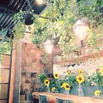 青山フラワーマーケット ティーハウス - 私が訪れた時は向日葵で溢れていました
