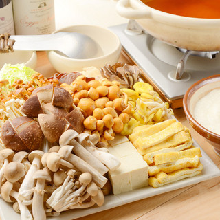 キノコで菌活!大人気『きのこトロロ鍋』小鍋のご用意もあります