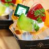 フルール - 料理写真:フルール★メープル風味くるみとスポンジの上にみかんの入ったババロアをのせフルーツをトッピング!450円