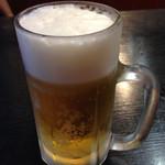 一力うなぎ - 生ビール