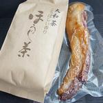みどり屋 - 料理写真:猪肉の燻製と大和茶(ほうじ茶)