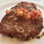 40519770 - 子牛のカツレツ トマトマスタードとブラックペッパーのソース