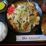 高麗館 - ランチ ~ 豚肉キムチ炒め定食