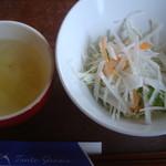タントグラッツェ - サラダとスープ(ランチ)(2015-8-3)