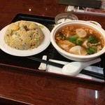 中国料理 福縁 - 水餃子と焼飯のセット