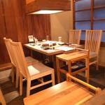 焼肉家すみび - 2階のテーブル