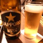 焼肉家すみび - ビールは黒ラベル