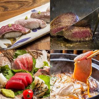 肉と魚の専門店が共存する業態だからできる多彩なメニュー