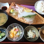 Keinohamanosato - 白いかお造り定食