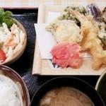 地下食堂 天輪 - 天ぷら定食 630円 2015/08