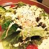 シーザーサラダ 温玉のせ Salad Caesar, Half boiled egg on top
