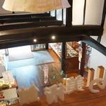 廣榮堂 - 2階から下を見下ろします