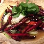 40530135 - 国産牛ロースと野菜の唐辛子煮(before)