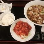 40531994 - 広東麺のエビチリセット