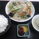 ラーメンとん太 - 野菜炒め定食