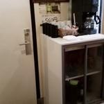 味鮮 - トイレ脇のドリンクコーナー、少しグレードアップ