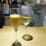 やさい家めい 表参道ヒルズ本家 - トウモロコシの搾りジュース