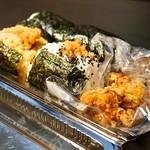 伊勢屋餅菓子店 - 2015.6 から揚茶飯おにぎりなど、これ全部で1,120円