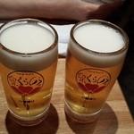 のらくら - ビール2杯