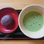 竹の子 - 抹茶(おはぎ付き) 570円