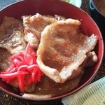 40544251 - 福来豚丼、味噌汁と漬物付