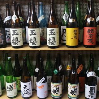 ①こだわりの日本酒