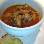 レストラン ペルージュ - ミネストローネの様なスープ、なんだったかな?
