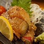 40549418 - 釣りサバ刺ゴマ醤油(1600円)