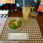 SYNC - グリーンカレー オムライスセット:900円