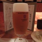 地鶏と酒肴 音音 - 生ビールはプレモルの「マスターズ・ドリーム」★